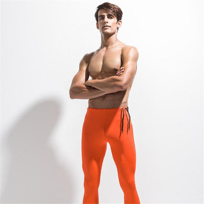 LEGGING DE YOGA HOMME ORANGE YogaZenial