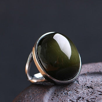 BAGUE YOGA OBSIDIENNE
