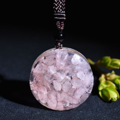 COLLIER YOGA QUARTZ ROSE