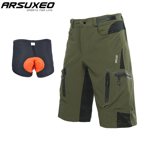 Men's MTB Bike Shorts Water Resistant With Padded 3D Underwear