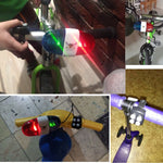 Kids 6 LED 4 Tone Police Light Electronic Siren for Bike Scooter