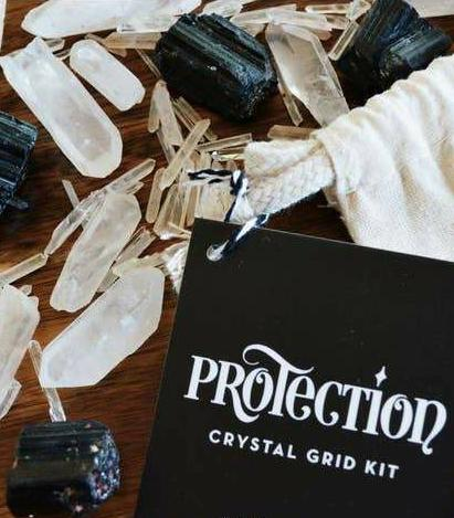 Protection Crystal Grid Set - Tree Of Life Shoppe