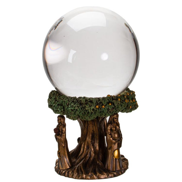 Maiden, Mother and Crone Crystal Ball - Tree Of Life Shoppe