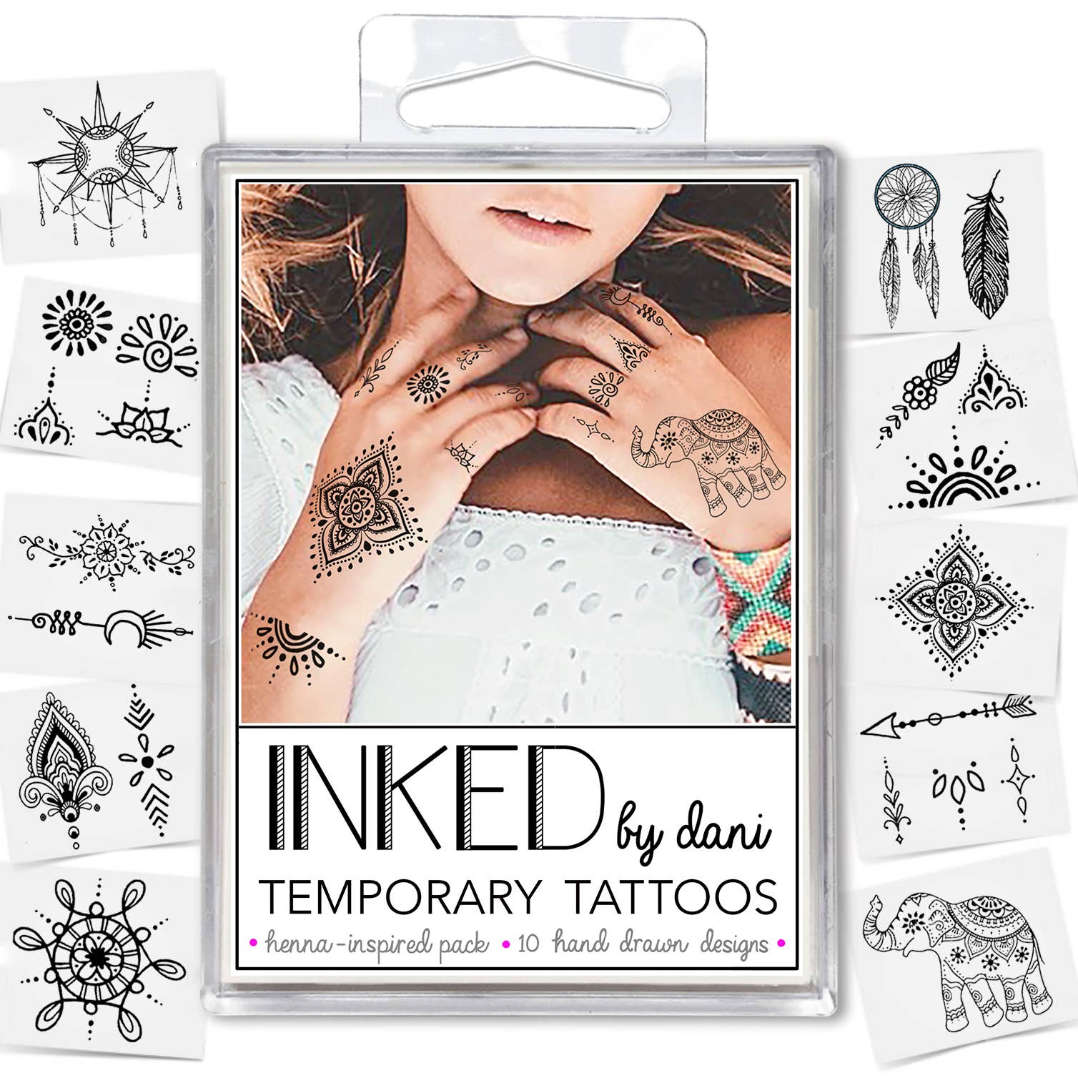 Temporary Tattoos - Henna Inspired Pack - Tree Of Life Shoppe