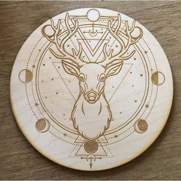 Deer and Moon Phase Grid - Tree Of Life Shoppe