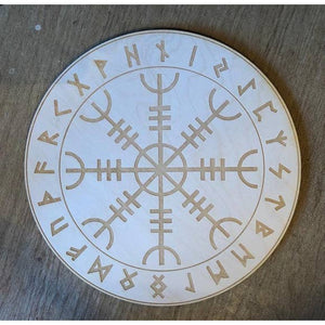 Helm of Awe Crystal Grid/ Alter Tile - Tree Of Life Shoppe