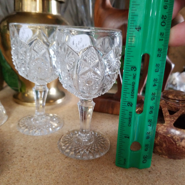 Mini crystal cut goblets - Tree Of Life Shoppe