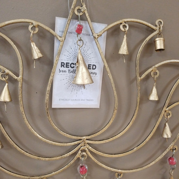 Lotus Recycled Iron Bells and Chimes Wind Chime