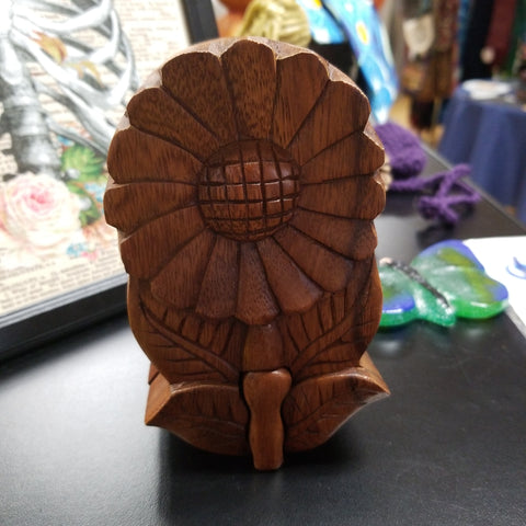 Sunflower Wooden Puzzle Box