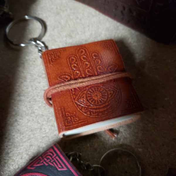 Leather journal key chains - Tree Of Life Shoppe