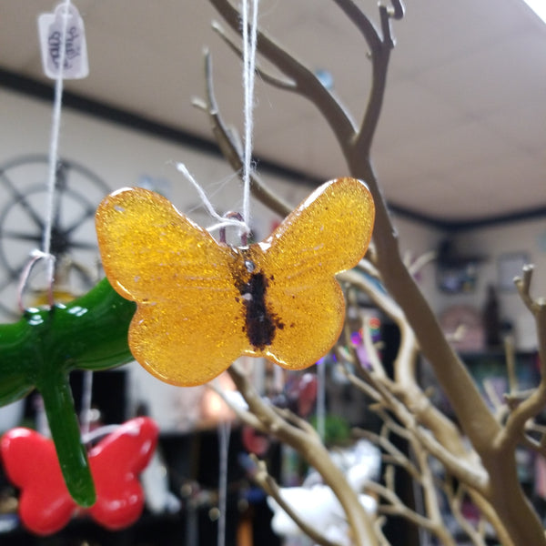 Hand crafted Fused Glass Suncatcher - Small Butterflies - Tree Of Life Shoppe
