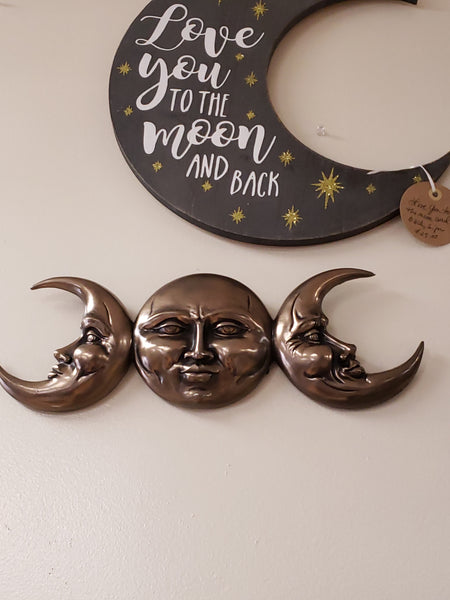 TRIPLE GODDESS MOON PLAQUE - Tree Of Life Shoppe