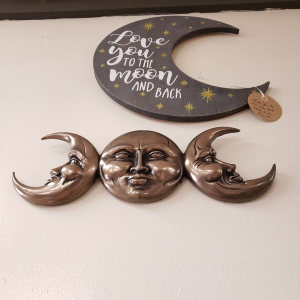 TRIPLE GODDESS MOON PLAQUE