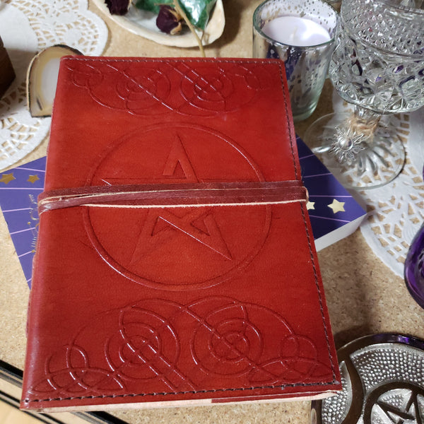 Pentacle Leather Jounal - Tree Of Life Shoppe