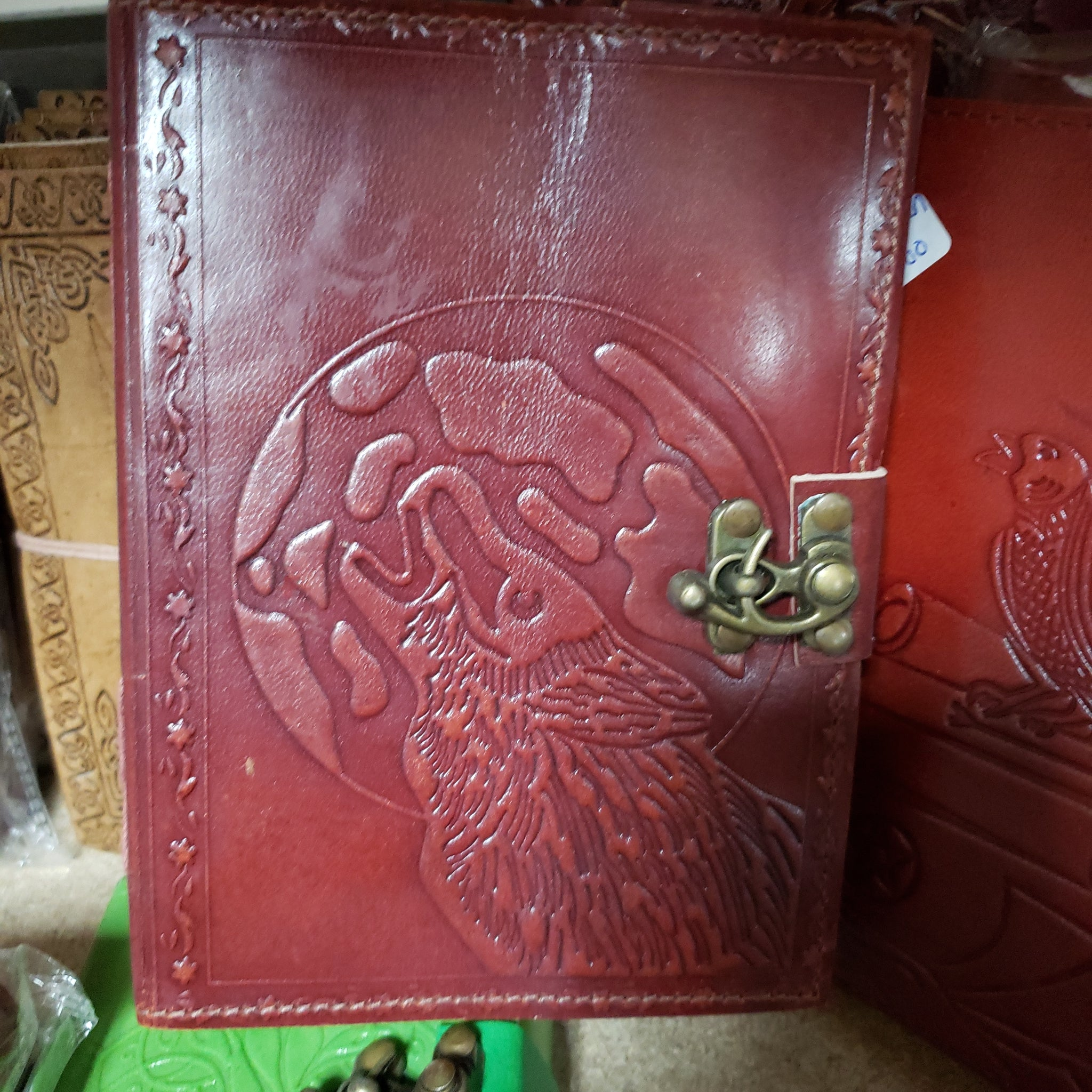 Wolf Leather Jounal - Tree Of Life Shoppe