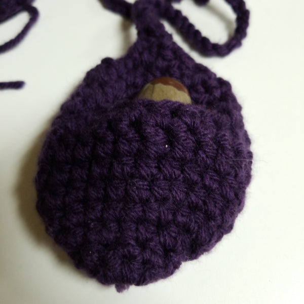 Purple Crochet Crystal Pouches - Tree Of Life Shoppe