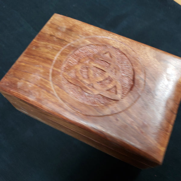 Triquetra Carved Wood Box - Tree Of Life Shoppe