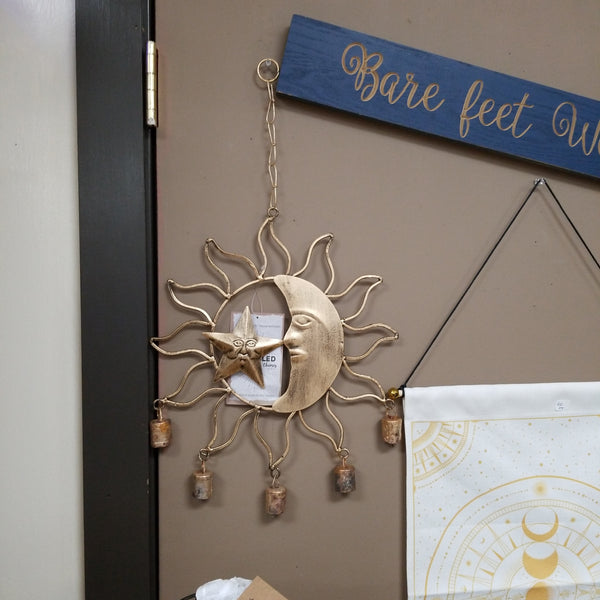 RECYCLED MOON AND STAR CHIME - Tree Of Life Shoppe