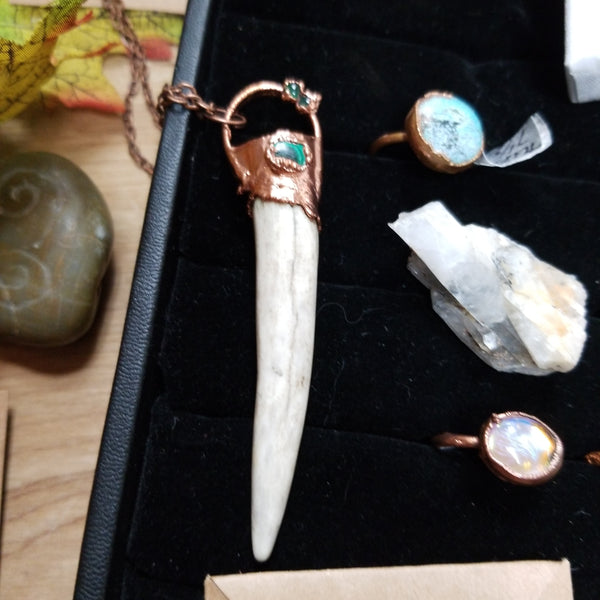 Antler Horned Handcrafted Copper Necklaces
