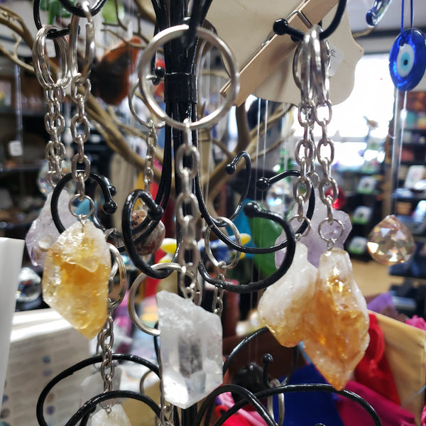 Natural Clear Quartz keychain - Tree Of Life Shoppe