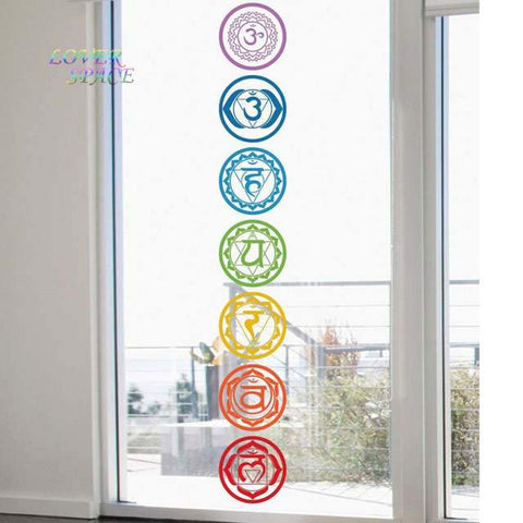 Chakra Set of Wall Decal Art Work