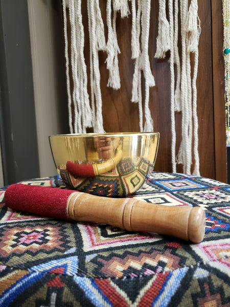 Brass Hand Made Singing Bowl from Nepal - Tree Of Life Shoppe