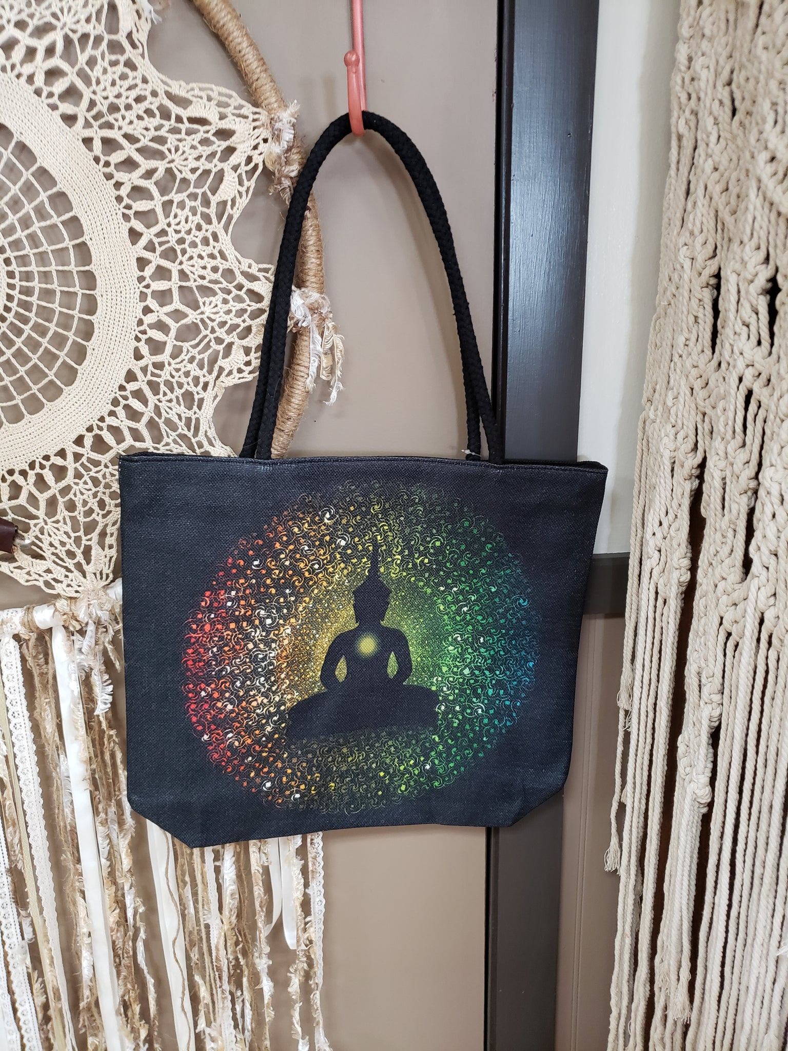 Buddha Cotton Canvas Carry All Tote - Tree Of Life Shoppe