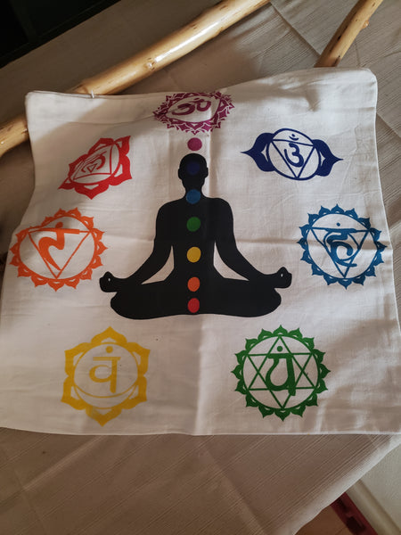 Chakra Pillow Case.  Double Sided Print - Tree Of Life Shoppe