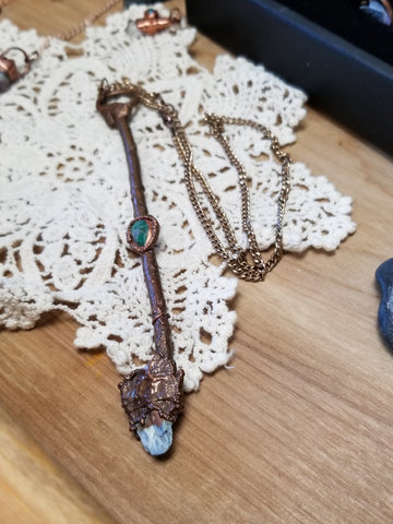 Handcrafted Copper Broom Necklaces