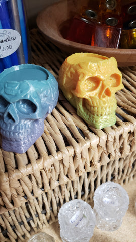 Sugar Skull - Tea light and pillar candle holder