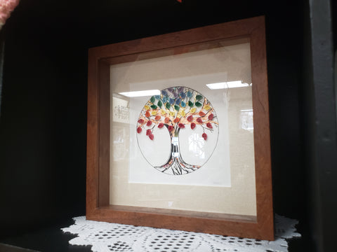 Handcrafted Tree of Life Quill Art & Shadow Box