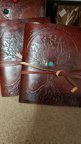Tree of Life Leather Notepad Cover with Notepad