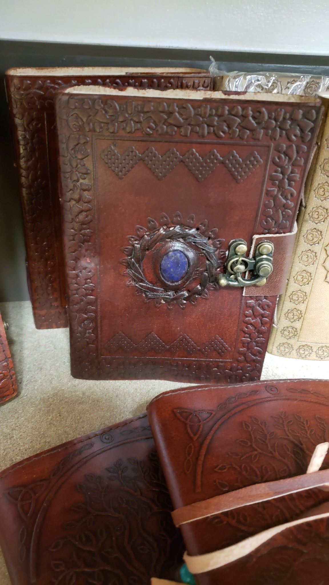 God's Eye leather blank book w/ lock - Tree Of Life Shoppe