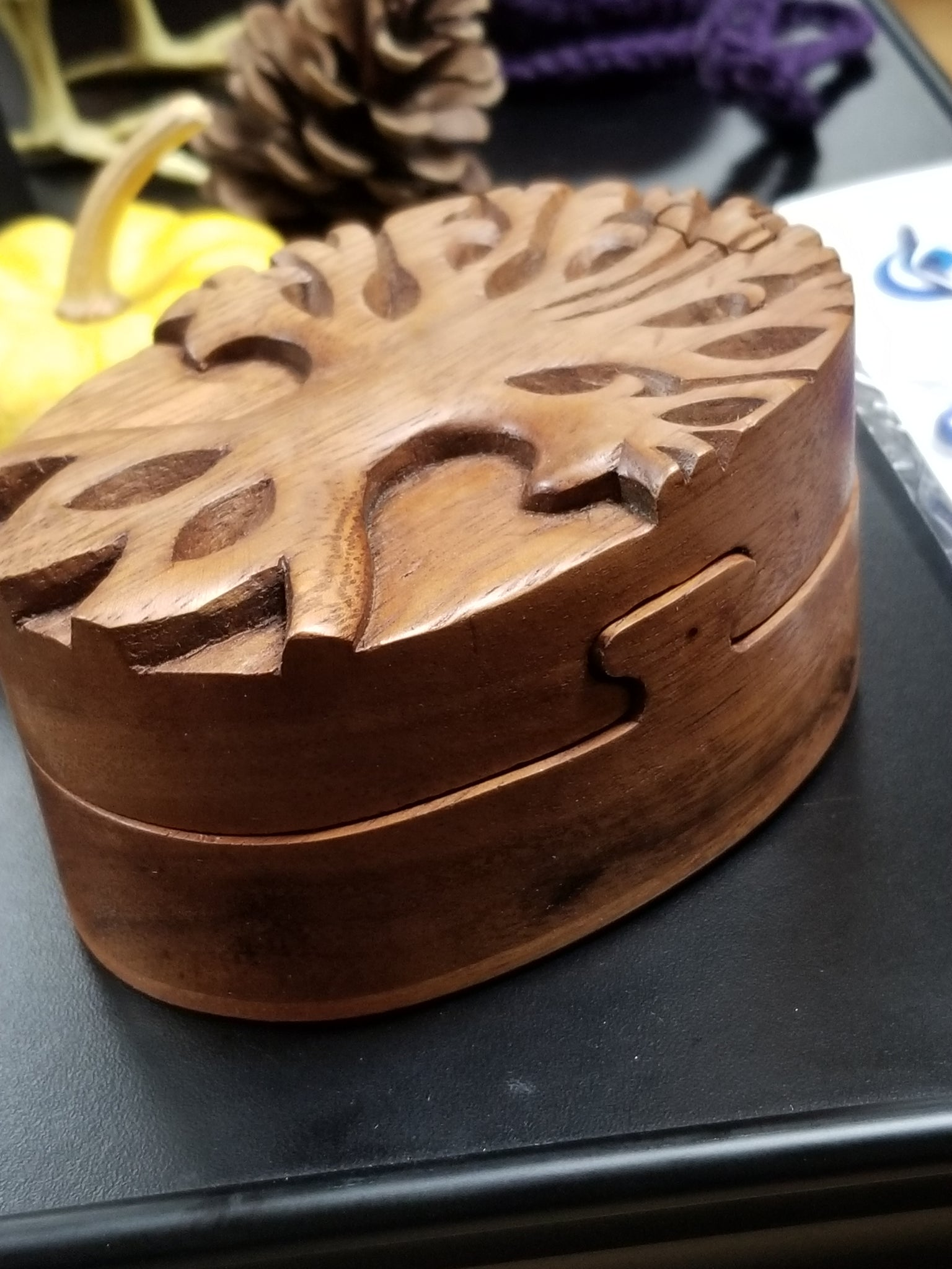 Tree Of Life Wooden Puzzle Box