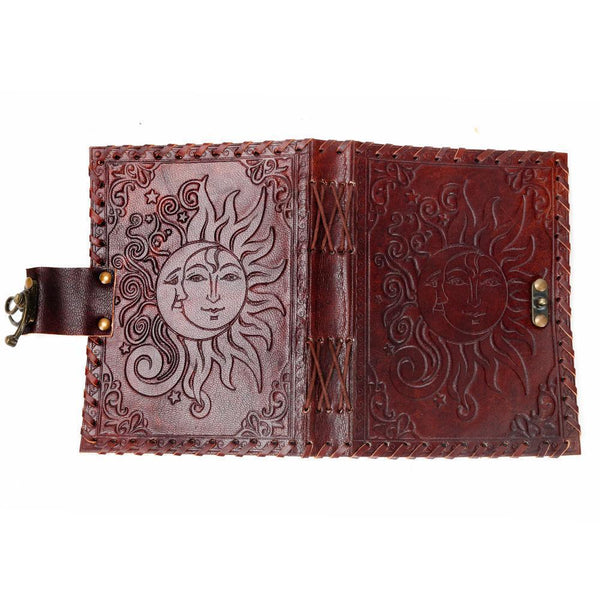 Sun and Moon Leather Journal - Tree Of Life Shoppe