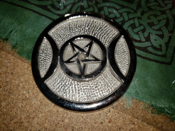 Aluminum Altar Triple Moon Tile - Tree Of Life Shoppe
