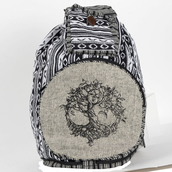 Black & White Convertible Back Pack - Tree Of Life Shoppe