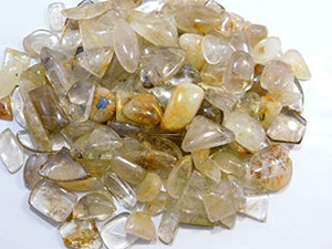 Quartz, Golden Rutilated - Tumbled - Tree Of Life Shoppe
