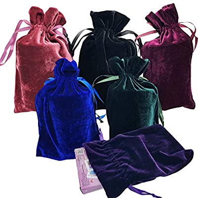 Rune, tarot, or oracle velor drawstring bags 6 by 9""
