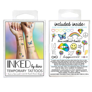Temporary Tattoos - Love is Love Pack - Tree Of Life Shoppe