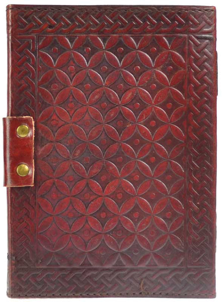 Triquetra Leather Journal with Lachet - Tree Of Life Shoppe