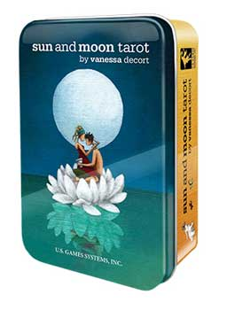 Sun and Moon Tarot Deck in a tin by Vanessa Decort