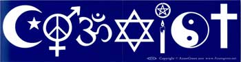 Coexist,  bumper sticker - Tree Of Life Shoppe