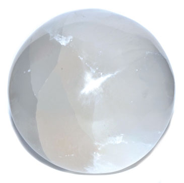 "5"" White Selenite Gazing Ball"