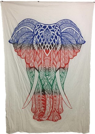 Colorful Elephant Tapestry - Tree Of Life Shoppe
