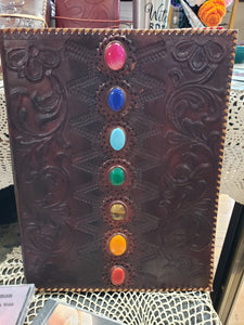 Chakra Handcrafted Leather Journal - Tree Of Life Shoppe
