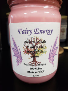 Fairy Energy Soy Intention Jar Candle - Tree Of Life Shoppe