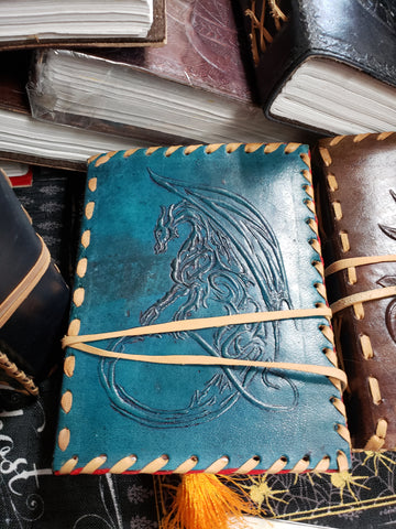 Dragon Hand Crafted Leather Journal - Tree Of Life Shoppe