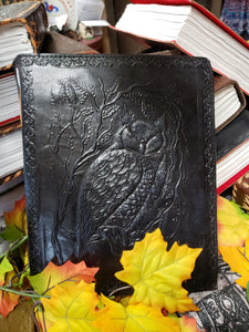 Owl Hand Crafted Leather Journal - Tree Of Life Shoppe