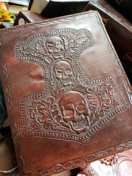 Thor Hammer Hand Crafted Leather Journal - Tree Of Life Shoppe